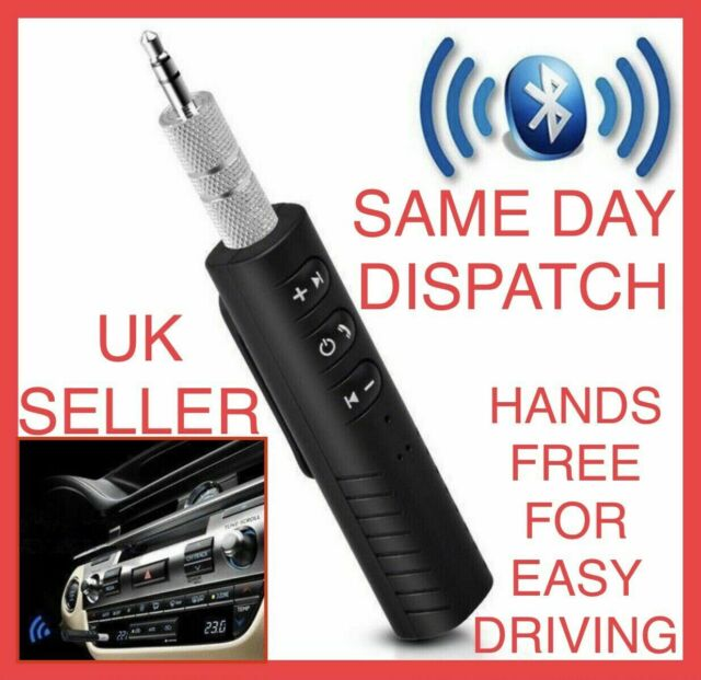 Bluetooth 5.1 AUX Receiver 3.5mm Phone Car Stereo Earphones Adapter with Mic UK