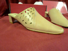 Damenschuhe Schuhe Pumps Pantoletten Gr. 36 beige hellbraun echtes Leder