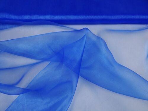 0,50 m Organza 100 /% Nylon transparent uni bunt Stoff  Dekoartikel Meterware