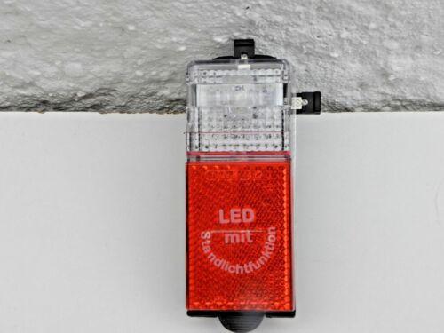 Fahrrad LED Rücklicht mit Standlicht  Dynamobetrib Schutzblech Montage neu 01234