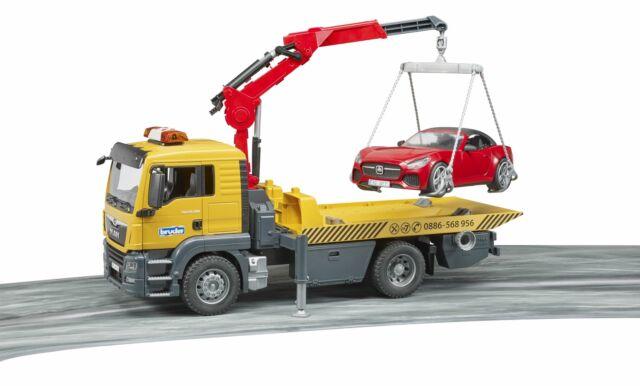 MAN TGS Breakdown Truck & Roadster - Bruder 03750 Scale 1:16 NEW