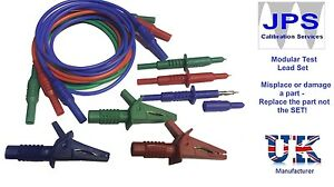 Fluke-1651-Tester-Test-Leads-Probes-Crocodile-Alligator-Red-Blue-Green-Clips-p29