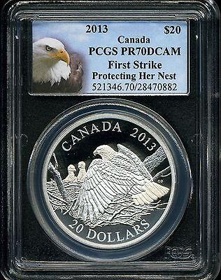 2013-W PCGS PR70DCAM Silver Eagle Bald Eagle Label