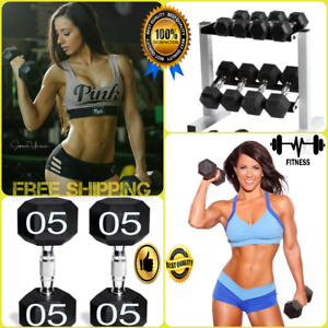 CAP Barbell Rubber-Coated Hex Dumbbells Weight Fitness Gym Home Workout Set 2