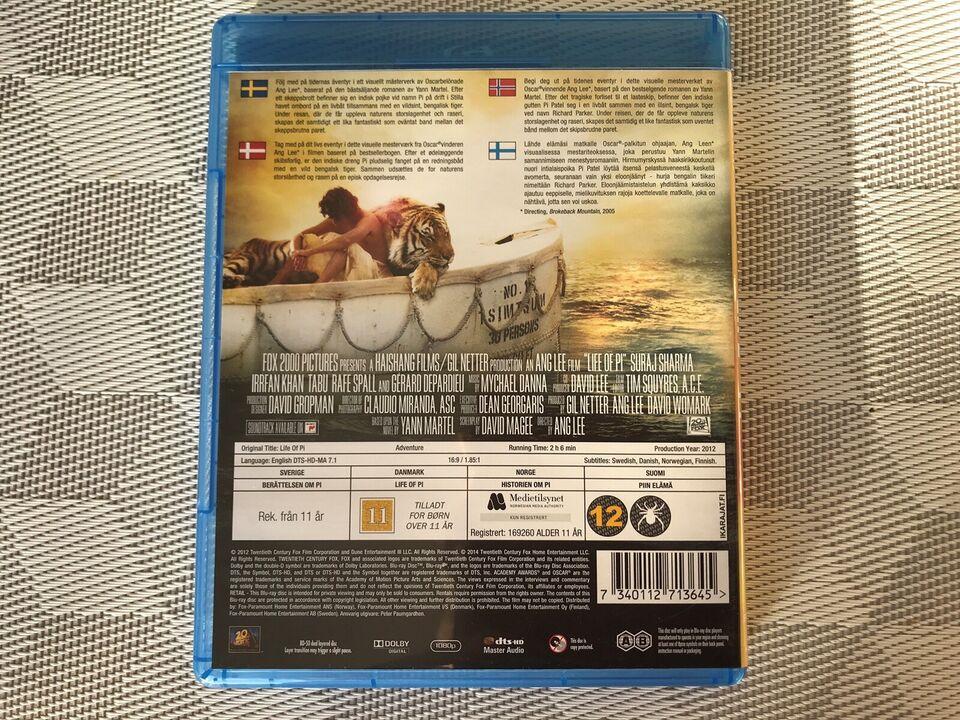LIFE of PI, instruktør Ang Lee, Blu-ray