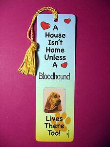 "Sku# 47 flag gold tassel A House Isn/'t  Home Tassel Bookmark /""Bloodhound/"""