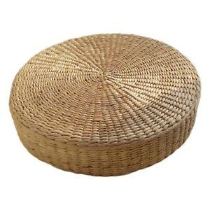 40cm Tatami Cushion Round Straw Weave Handmade Pillow ...