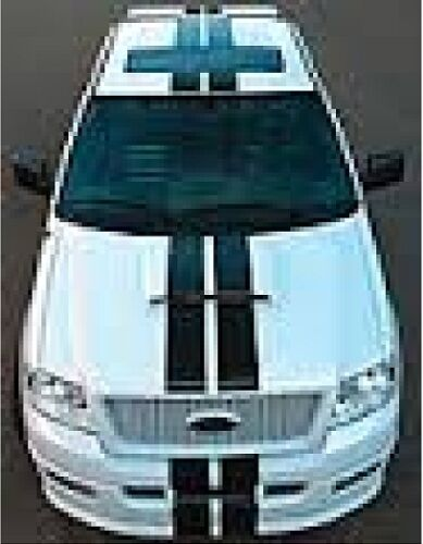 "8/"" DUAL RACING STRIPES VINYL DECAL STICKER CAR TRUCK FORD F-150 DODGE FITS MOST"
