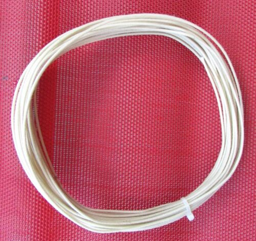 PROFESSIONAL Vintage Style tinned Cloth Push Back Guitar Wire 22ga WHITE 50 Feet