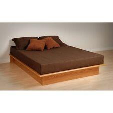 Prepac Full Platform Bed -, Oak, Full/Double