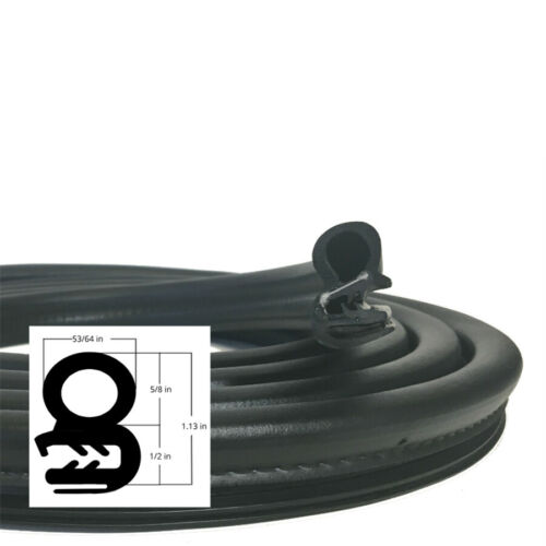 4M//Roll Rubber EPDM/&Steel Belt Seal Sealing Strip Car Body OEM Replacement Parts