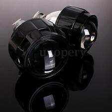 "2x Black 2.5"" HID Bi-xenon Projector lens Kit Headlight Bulb Shroud H1 H4 H7 LHD"
