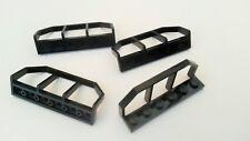 Used condition N619 Fencing Bars 6x Black Lego Railings