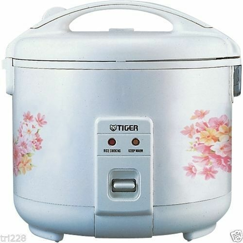 Tiger JNP-0720FG Rice Cooker   Warmer 4 Cups Floral White NEW
