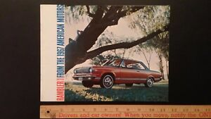 1967-RAMBLER-REBEL-034-Double-034-Dealer-Sales-Brochure-Very-Good-Condition-CDN