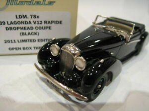 1/43 Brooklin Ldm 78x Lagonda V12 Rapide Drophead Cooupe 1939 Black Ltd Edition