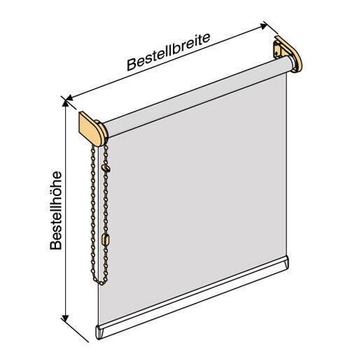 Oscuramento Thermo Thermo Thermo seitenzug kettenzug ROLLO-altezza 130 cm bianco afcf80