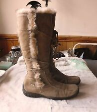 Fun&Co Brown Real Leather fleece lined Boots SIZE: UK 7 EU 40