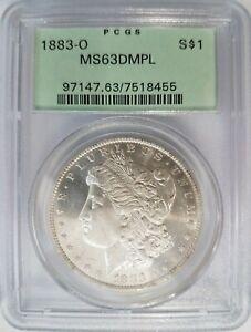 1883-O-Silver-Morgan-Dollar-PCGS-MS-63-DMPL-Deep-Mirrors-OGH-PL-DPL-Coin