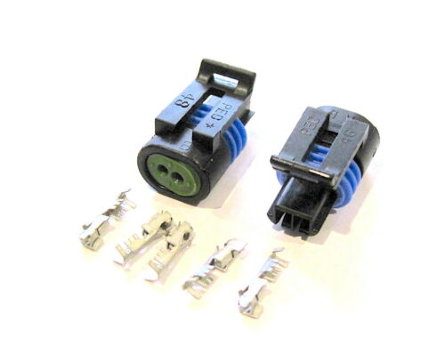 Metri-Pack 150.2 Series Connector Set 2 Way Female with Terminals  2 Pack