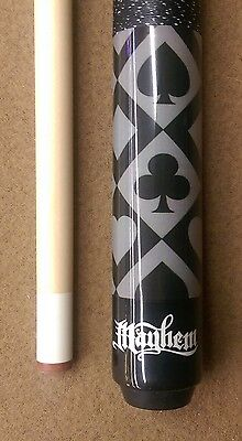 New Action MAY22 Pool Cue Stick Black Maple Joker w//Card Suits 18-21 oz /& Case