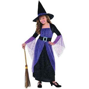 Caricamento dell immagine in corso Ragazze-Halloween-Costume-da-Strega -Lusso-Vestito-Festa- 89ff47e53732