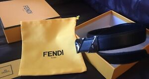 New, Black Leather Fendi Belt. Comes With Original Box, Dust Bag, And Hole Punch
