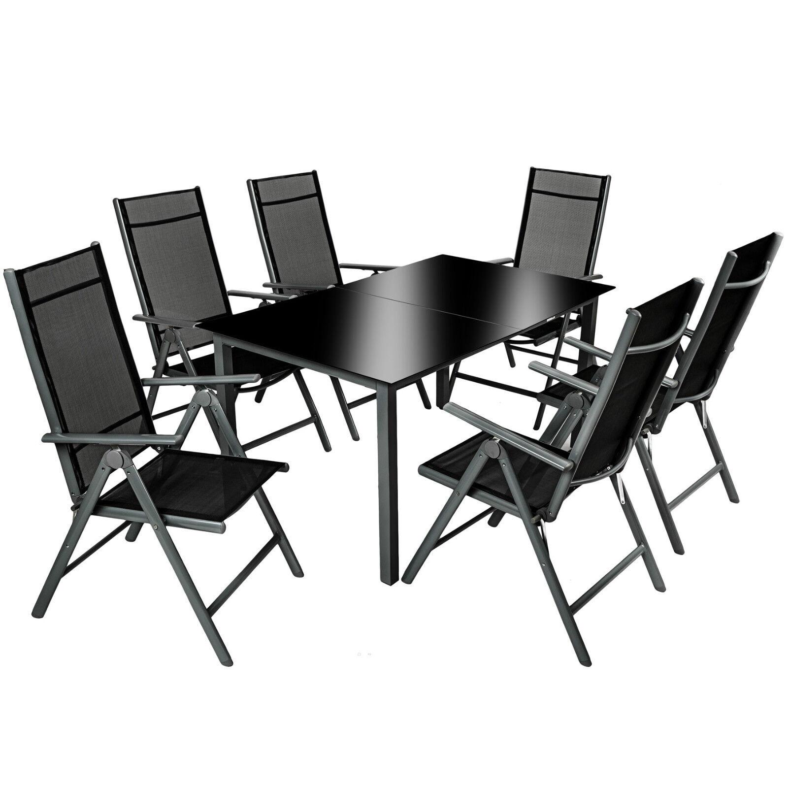 Alu Sitzgruppe 6+1 Gartenmöbel Gartengarnitur Tisch Stuhl Essgruppe B-Ware