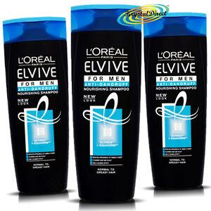 3x-Loreal-L-039-oreal-Elvive-Para-Hombres-Anti-Caspa-Nourishing-Shampoo-400-Ml