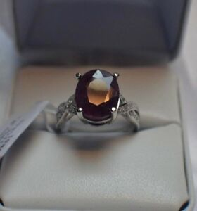 5-50ct-NATURAL-GENUINE-AFRICAN-RUBY-amp-NATURAL-SAPPHIRE-STERLING-SILVER-RING