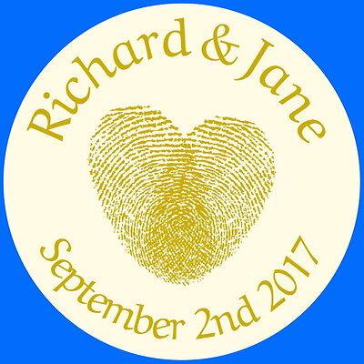 Romantico Gold Impronte Digitali Di Cuore Personalizzato Gloss Matrimonio Favore Borsa Casella Etichette,-