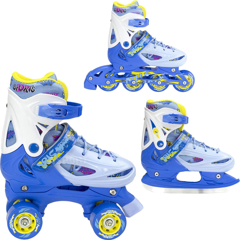 NILS 2IN1 Schlittschuhe Eislauf Rollschuhe Inlineskates Inliner VERSTELLBAR Inline-Skates