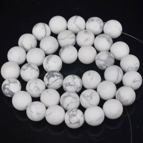"""Natural Matte White NACRES Pierre Turquoise Perles Rondes 15.5/"""" 4 mm 6 mm 8 mm 10 mm"""