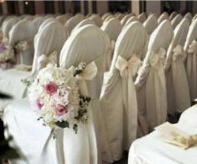 Polyester Black White or Ivory Banquet Chair Covers Wedding Reception