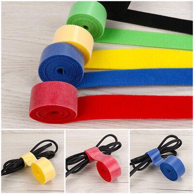 1//3//5M Hook and Loop Tape Strap Cable Ties Fastener Self Adhesive Roll Wrap Tool