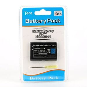 3DS Rechargeable 2000mAh Battery Pack Replacement w/ tool for Nitendo 3DS System