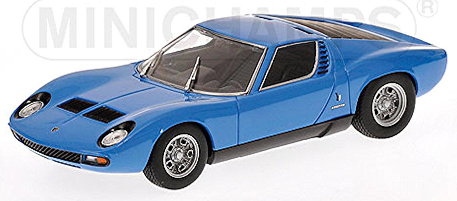Lamborghini Miura SV 1971 azurro bleu bleu intérieur  noir noir 1 43 Minichamps