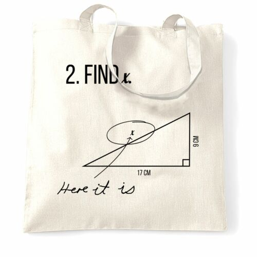 Here It Is Exam Answer College Teacher Novelty Math Tote Bag Find X