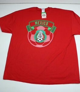 New-Mexico-soccer-T-Shirt-Red-Super-Soft-100-cotton-XL-Extra-Large