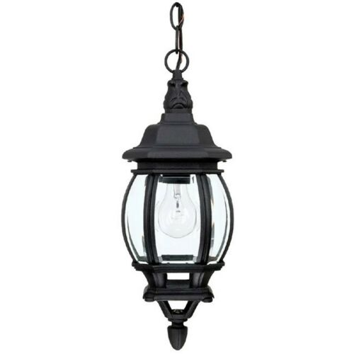 9868BK Black Capital Lighting French Country 1 Lamp Hanging Outdoor Lantern