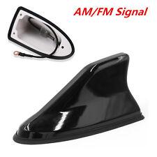 Black Universal Auto Car Roof Antenna Shark Fin Design AM/FM Radio Signal Aerial
