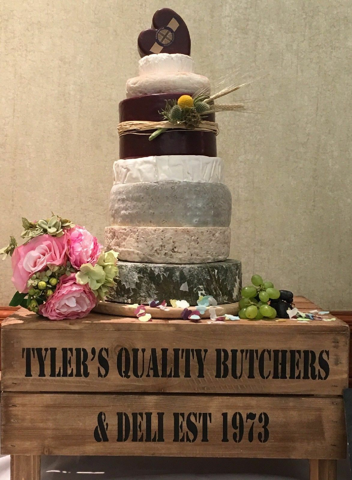 Personalised Rustic Wedding Cake Stand Vintage Wedding Wooden Crate Cake Stand For Sale Ebay