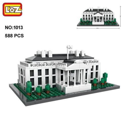 LOZ Architecture WDC The White House Nano Blocks Diamond learning Building Toy