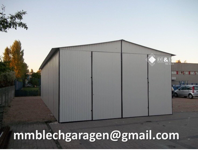 Blechgarage Garagen 5x6x3,00m Magazin Schuppe Garage Fertiggarage Lager Halle