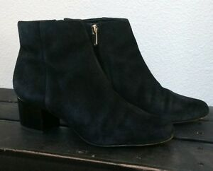 04feedc2c Image is loading Sam-Edelman-Edith-Black-Suede-Ankle-Bootie-Boot-