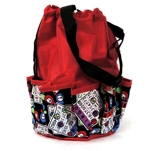 10 Pocket Bingo Bag Red Bingo Card Print