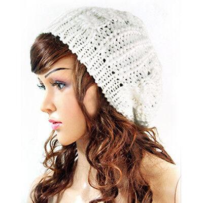 Fashion Warm Winter Womens Knit Crochet Ski Hat Braided Baggy Beret Beanie Cap