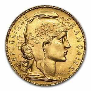 SPECIAL PRICE! France Gold 20 Francs French Rooster AU (Random)