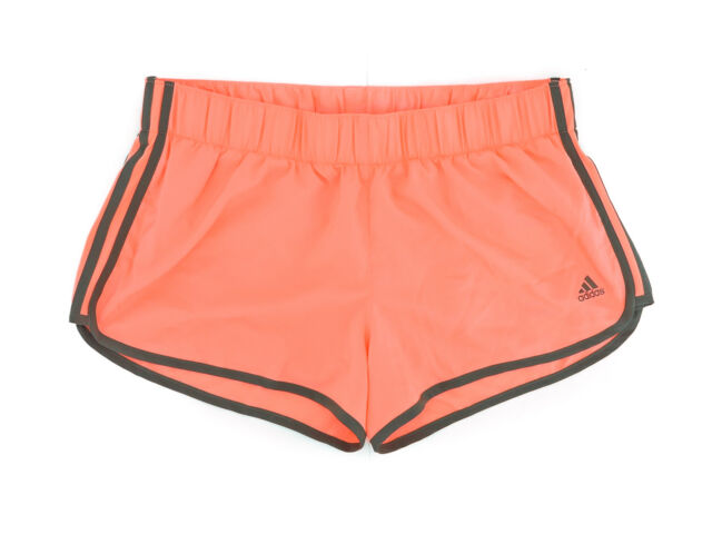 Women's adidas Coral Orange Active Running Shorts Size Medium M