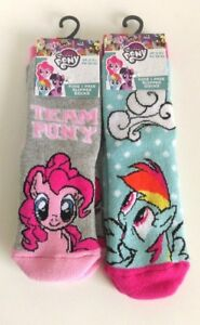 545e205e69f Image is loading My-Little-Pony-Slipper-Socks-x2-Set-2
